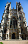 Frontage of Beverley Minster church, Beverley, Yorkshire, England
