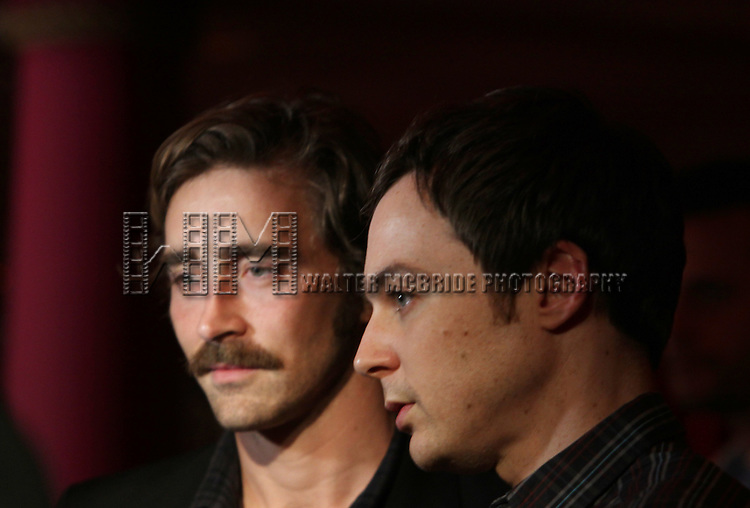 Lee Pace & Jim Parsons.attending the 56th Annual Drama Desk Award Nominees Reception at Bombay Palace in New York City.