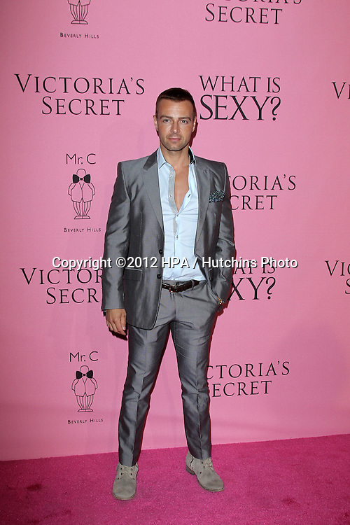 LOS ANGELES - MAY 10:  Joey Lawrence arrives at the Victoria's Secret What Is Sexy? Party at Mr. C Beverly Hills  on May 10, 2012 in Beverly Hills, CA