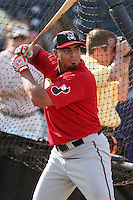 Nashville Sounds Nelson Cruz #37 during batting practice before the Triple-A All-Star Game at Fifth Third Field on July 10, 2006 in Toledo, Ohio.  (Mike Janes/Four Seam Images)