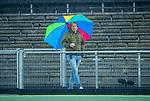 AMSTELVEEN - assistent coach Don Tissen (HCKZ) tijdens de hoofdklasse competitiewedstrijd mannen, Amsterdam-HCKC (1-0).  COPYRIGHT KOEN SUYK