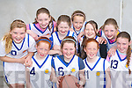 The St Anne's team that displayed their skills in the girls basketball community games in Castleisland Community Centre on Saturday front row l-r: Laura Murphy, Joanne Browne, Sarah Murphy, Brid Kerrisk. Back row: Niamh Clifford, Aine O'Connor, Ellen Hickey, Oonagh Gleeson, Deborah Kerrisk and Sara Fitzgerald..   Copyright Kerry's Eye 2008
