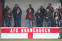 Hornchurch failthful in full song during AFC Hornchurch vs Canvey Island, Bostik League Division 1 North Football at Hornchurch Stadium on 10th March 2018