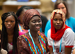 27 June, 2018, Kuala Lumpur, Malaysia : Rokhaya Ngom listens during a session on the third day at the Girls Not Brides Global Meeting 2018 at the Kuala Lumpur Convention Centre. Picture by Graham Crouch/Girls Not Brides