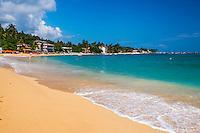 Photo of Unawatuna Beach, a beautiful sandy beach on the South Coast of Sri Lanka, Asia. This is a photo of Unawatuna Beach, a beautiful sandy beach on the South Coast of Sri Lanka, Asia.
