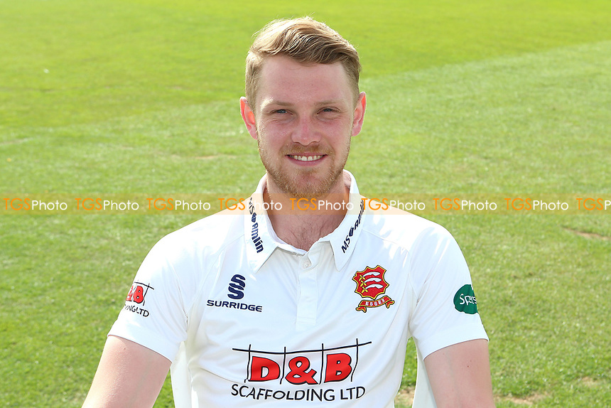 Jamie Porter of Essex in Specsavers County Championship kit during the Essex CCC Press Day at The Cloudfm County Ground on 5th April 2017