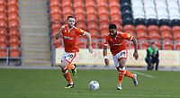 Blackpool's Oliver Turton and Liam Feeney<br /> <br /> Photographer Stephen White/CameraSport<br /> <br /> The EFL Sky Bet League One - Blackpool v Rochdale - Saturday 6th October 2018 - Bloomfield Road - Blackpool<br /> <br /> World Copyright © 2018 CameraSport. All rights reserved. 43 Linden Ave. Countesthorpe. Leicester. England. LE8 5PG - Tel: +44 (0) 116 277 4147 - admin@camerasport.com - www.camerasport.com