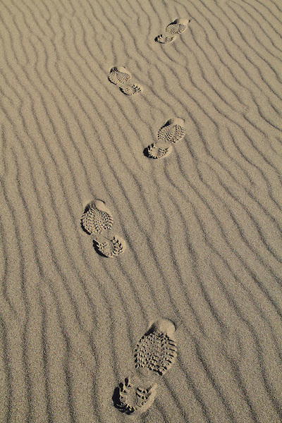 Footprints in the sand, Great Sand Dunes National Park, Colorado, John offers private photo trips to Great Sand Dunes National Park and all of Colorado. All year long.
