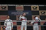 05.10.2019, Hockenheimring, Hockenheim, DTM 2019, Hockenheimring,04.10. - 06.10.2019 , im Bild<br />Podium:<br />Sieger Rene Rast (DEU#33), Audi Sport Team Rosberg, 2.Platz für Marco Wittmann (DEU#11), BMW Team RMG, 3.Platz für Mike Rockenfeller (DEU#99), Audi Sport Team Phoenix<br /> <br /> Foto © nordphoto / Bratic