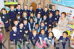 One of the class's of junior infants with teacher Noreen Coffey during their first day in St Oliver's National school on Monday.   Copyright Kerry's Eye 2008