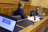 Roma, 15 Luglio 2015<br /> Benedetto Della Vedova e Luigi Manconi.<br /> Presentata una proposta di legge firmata da 218 parlamentari di vari gruppi politici per la legalizzazione delle droghe leggere in Italia