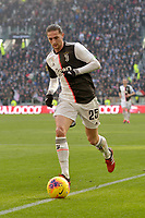 2nd February 2020; Allianz Stadium, Turin, Italy; Serie A Football, Juventus versus Fiorentina; Adrien Rabiot of Juventus on the ball along the wing