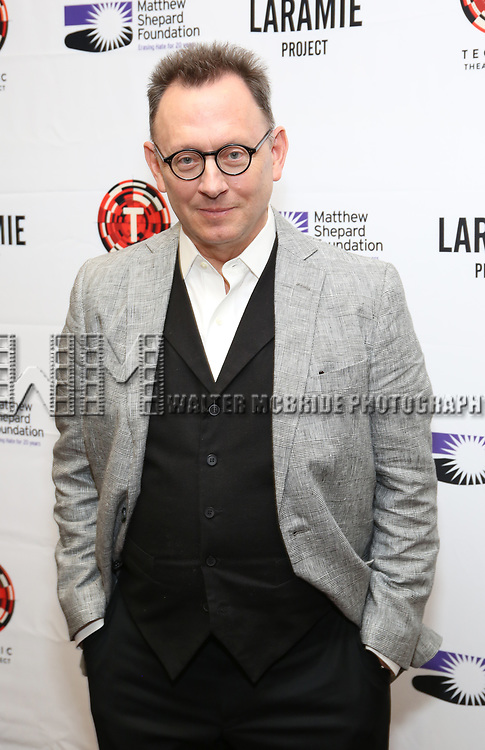 """Michael Emerson attends the cast photo call for """"Laramie: A Legacy""""  on September 24, 2018 at The Gerald W. Lynch Theater at John Jay College in New York City."""