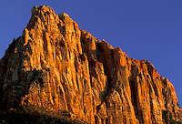 Sunset on The Watchman.  Zion National Park, Utah.
