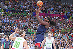 07.09.2014. Barcelona, Spain. 2014 FIBA Basketball World Cup, round of 8. Picture show K. Faried in action during game between Slovenia v Usa at Palau St. Jordi.