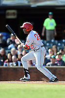 Hagerstown Suns outfielder Isaac Ballou (23) at bat during a game against the Lexington Legends on May 19, 2014 at Whitaker Bank Ballpark in Lexington, Kentucky.  Lexington defeated Hagerstown 10-8.  (Mike Janes/Four Seam Images)