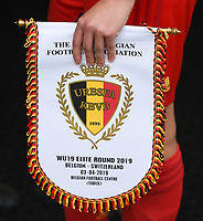20190403  - Tubize , BELGIUM : illustration pictured during the soccer match between the women under 19 teams of Belgium and Switzerland , on the first matchday in group 2 of the UEFA Women Under19 Elite rounds in Tubize , Belgium. Wednesday 3 th April 2019 . PHOTO DIRK VUYLSTEKE / Sportpix.be