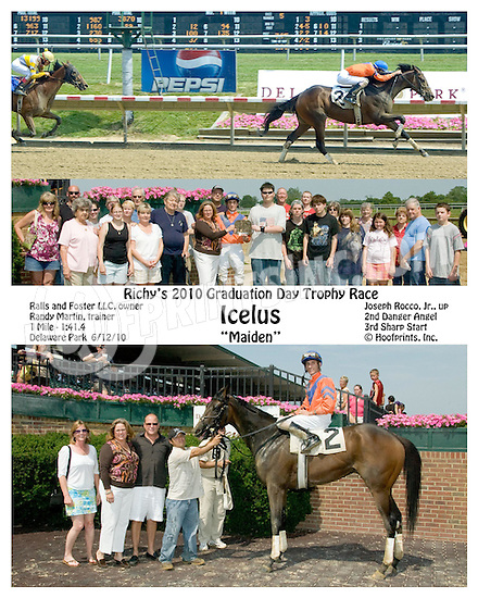 Icelus winning at Delaware Park on 6/12/10
