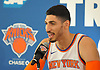 Enes Kanter #00 of the New York Knicks speaks during the team's Media Day held at Madison Square Garden Training Center in Greenburgh, NY on Monday, Sept. 25, 2017.
