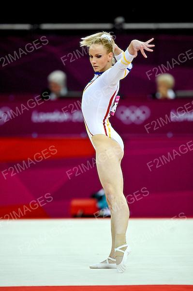 Olympics London 2012. Gymnastics Womens Qualifications 29.7.12. Greenwich Arena.Sandra Izbasa  of Romania