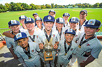PNBHS celebrates winning the  2018 Junior NZ Secondary School Cricket Boys' Tournament at Fitzherbert Park in Palmerston North, New Zealand on Friday, 23 March 2018.. Photo: Dave Lintott / lintottphoto.co.nz