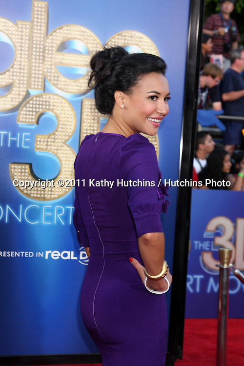 """LOS ANGELES - AUG 6:  Naya Rivera arriving at the """"Glee The 3D Concert Movie""""."""" at Regency Village Theater on August 6, 2011 in Westwood, CA"""