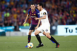 FC Barcelona's Sergio Busquets (l) and Valencia CF's Daniel Parejo during Spanish King's Cup Final match. May 25,2019. (ALTERPHOTOS/Carrusan)