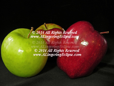 COMP image: Request 24 mb digital file. Three Perfect Apples: Red Delicious, Granny Smith & McIntosh Apples