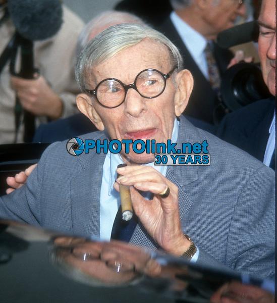 George Burns<br /> 1995<br /> Photo By Michael Ferguson/CelebrityArchaeology.com