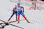 HOLMENKOLLEN, OSLO, NORWAY - March 17: Elena Soboleva of Russia (RUS) finishes at the Ladies 30 km mass start race, free technique, at the FIS Cross Country World Cup on March 17, 2013 in Oslo, Norway. (Photo by Dirk Markgraf)