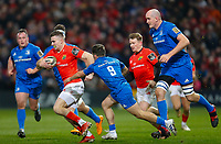 28th December 2019; Thomond Park, Limerick, Munster, Ireland; Guinness Pro 14 Rugby, Munster versus Leinster; Shane Daly of Munster tries to get past Rowan Osbourne of Leinster - Editorial Use