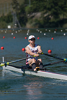 Lucerne, SWITZERLAND, 13th July 2018, Friday USA LM1X. Alex  TWIST, Start Area, FISA World Cup series, No.3, Lake Rotsee, Lucerne, © Peter SPURRIER,