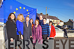 MEP Sean Kelly was on hand to help raise the Blue Flag at St Mary' school, Knocknagoshel on Friday afteroon. Pictured were: Karen Collins, Máire Collins, Sean Kelly (MEP), Patricia Cusack, Carmel O'Connell, JOhnny Morrissey, Kieran Roche and Marie O'Callaghan.