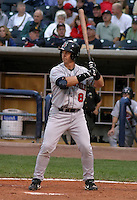 August 31, 2003:  Doug Jennings of the Indianapolis Indians, Class-AAA affiliate of the Milwaukee Brewers, during an International League game at Fifth Third Field in Toledo, OH.  Photo by:  Mike Janes/Four Seam Images