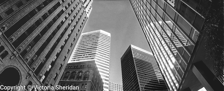 Financial district of San Francisco. Part of the Face of Labor portrait series. 1999 (Photo/Victoria Sheridan)