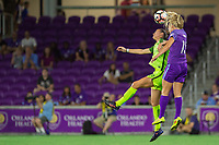 Orlando, FL - Thursday September 07, 2017: Carson Pickett, Rachel Hill during a regular season National Women's Soccer League (NWSL) match between the Orlando Pride and the Seattle Reign FC at Orlando City Stadium.