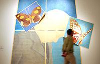 Quindicesima edizione della Quadriennale d'arte di Roma al Palazzo delle Esposizioni, 20 giugno 2008..15th edition of Rome's Art Quadriennial exhibition at the Palazzo delle Esposizioni..Giuseppe Caccavale: Andavamo a Sud (We went to South), 2007-2008 - Matita e pastello su carta da spolvero (Pencil and pastel on pounce paper)..UPDATE IMAGES PRESS/Riccardo De Luca