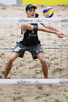 04.01.2019, Den Haag, Sportcampus Zuiderpark<br />Beachvolleyball, FIVB World Tour, 2019 DELA Beach Open<br /><br />Annahme Julius Thole (#1)<br /><br />  Foto &copy; nordphoto / Kurth