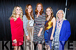 Nora Gibbons, Keelin Dennihan Sugrue, Lorraine O'Halloran, Catriona O'Hanlon and Deborah O'Leary ready to go on stage at the Presentation Primary School Junk Kouture Fashion Show in the Rose Hotel on Thursday night.