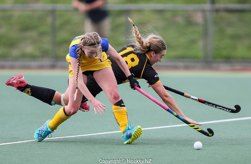 Capital v Southern Women. Under 21 National Hockey Championships, North Harbour Hockey Stadium, Auckland, Tuesday 7 May 2019. Photo: Simon Watts/Hockey NZ