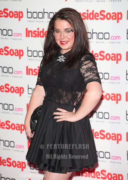 Dani Harmer arriving for the 2012 Inside Soap Awards, at No.1 Marylebone, London. 24/09/2012 Picture by: Alexandra Glen / Featureflash