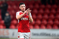 Fleetwood Town's Lewis Coyle applauds the fans<br /> <br /> Photographer Richard Martin-Roberts/CameraSport<br /> <br /> The EFL Sky Bet League One - Fleetwood Town v Plymouth Argyle - Saturday 10th March 2018 - Highbury Stadium - Fleetwood<br /> <br /> World Copyright &not;&copy; 2018 CameraSport. All rights reserved. 43 Linden Ave. Countesthorpe. Leicester. England. LE8 5PG - Tel: +44 (0) 116 277 4147 - admin@camerasport.com - www.camerasport.com