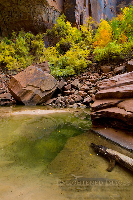 Upper Emerald Pool, Emerald Pools Trail, Zion Canyon, Zion National Park, Utah