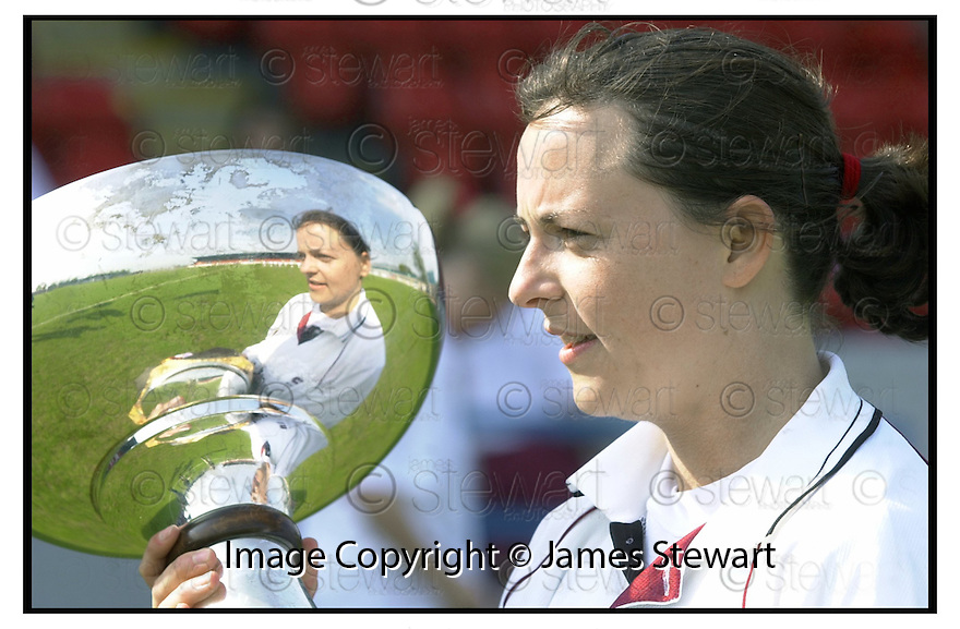 6th May 2000               Copyright Pic : James Stewart .Ref :                           .File Name : stewart26-ladies cup final                        .STENNY'S FOUR GOAL HERO NICKY GRANT WITH THE SCOTTISH CUP.....Payments to :-.James Stewart Photo Agency, Stewart House, Stewart Road, Falkirk. FK2 7AS      Vat Reg No. 607 6932 25.Office : +44 (0) 1324 630007   Mobile : 07721 416997.Fax     : +44 (0) 1324 630007.E-mail : jim@jspa.co.uk.If you require further information then contact Jim Stewart on any of the numbers above.........