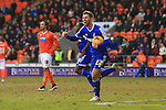 Forest's Gary Gardener celebrates scoring his sides first equalising goal - Blackpool vs. Nottingham Forest - Skybet Championship - Bloomfield Road - Blackpool - 14/02/2015 Pic Philip Oldham/Sportimage