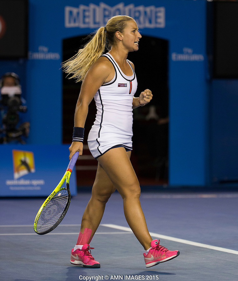 Dominika Cibulkova (SVK)<br /> <br /> Tennis - Australian Open 2015 - Grand Slam -  Melbourne Park - Melbourne - Victoria - Australia  - 26 January 2015. <br /> &copy; AMN IMAGES