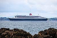 The Queen Mary 2 passing Groix Island
