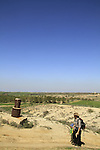 Israel, Negev, a British trig point in Beeri
