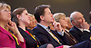 Lib Dem Spring Conference day 1 <br /> at the Echo Arena / BT Convention centre in Liverpool, Great Britain <br /> 14th March 2015 <br /> Jo Swinson <br /> Nick Clegg <br /> Vince Cable <br /> <br /> <br /> Photograph by Elliott Franks <br /> Image licensed to Elliott Franks Photography Services