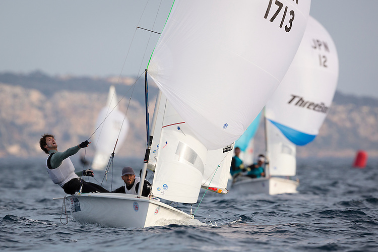20140401, Palma de Mallorca, Spain: SOFIA TROPHY 2014 - 850 sailors from 50 countries compete at the ISAF Sailing World Cup event. 470 Men - USA1713 - Stu Mcnay / Dave Hughes. Photo: Mick Anderson/SAILINGPIX.